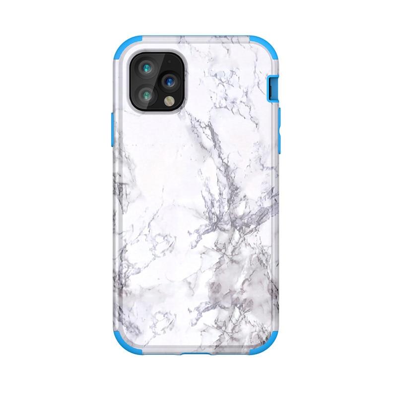 Imd piedra de mármol Gel caso para iPhone 11 6,1 11Pro max 6 8 7 Plus 5S SE X XR XSMax funda de teléfono blanda de silicona de PU Blanca Negra