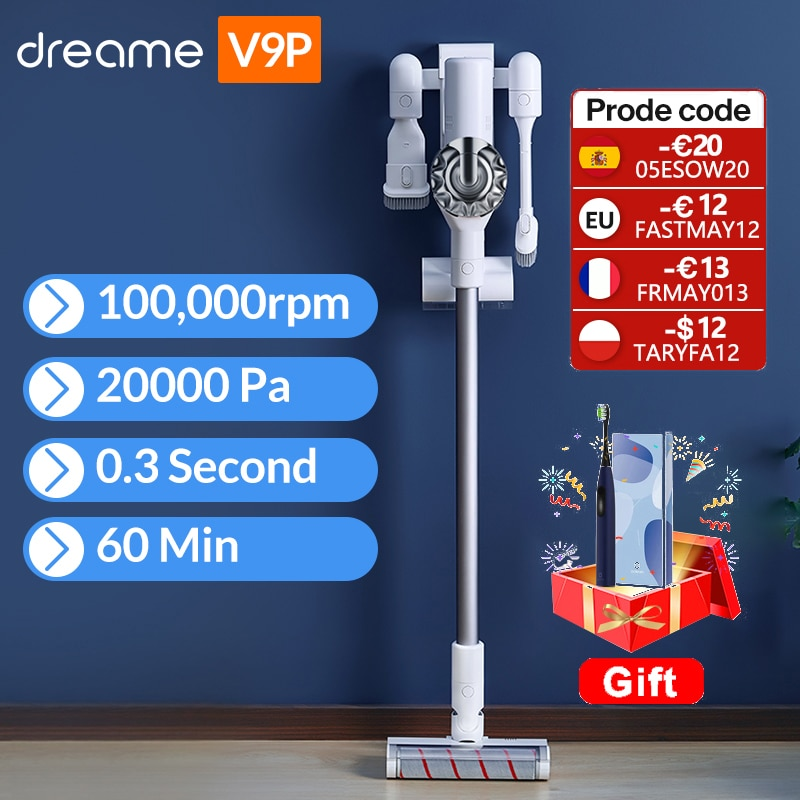 AliExpress - Dreame V9P Handheld Wireless Vacuum Cleaner Portable Cordless Cyclone Filter Carpet Dust Collector Carpet Sweep