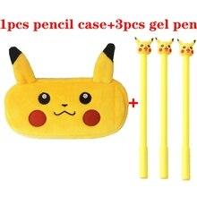 Pokemon trousse en peluche école étuis à crayons sac papeterie trousse à crayons Kawaii boîte à crayons pour garçons filles enfants cadeaux
