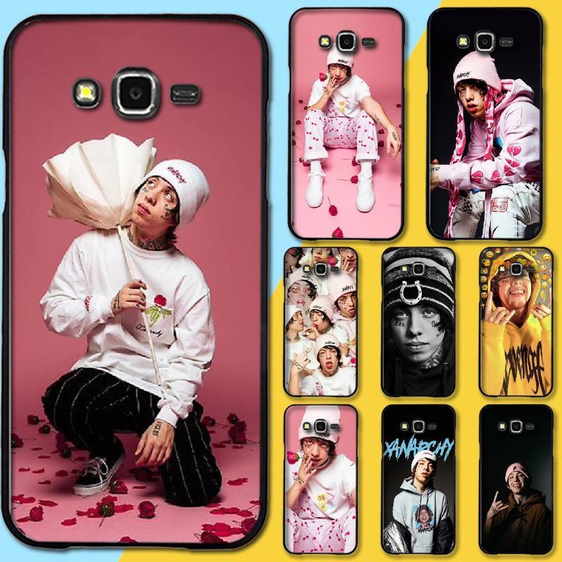 NBDRUICAI Lil Xan Rapper Black TPU Soft Rubber Phone Cover For Samsung Galaxy J7 J8 J3 J4 J5 J6 Plus