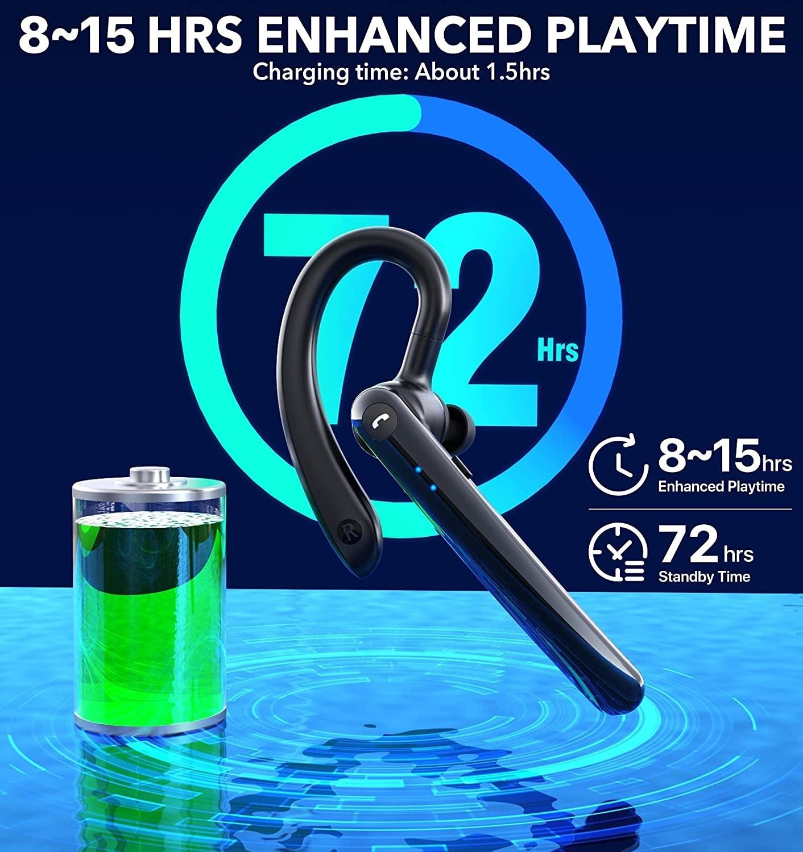 Wireless Bluetooth Earphones Bluetooth Headset HD Dual Microphone Smart Vocal ENC Noise Reduction Wireless Headphone enlarge