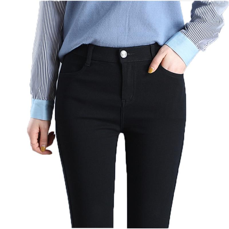 Женские эластичные брюки-карандаш с высокой талией, женские эластичные облегающие брюки большого размера, женские облегающие леггинсы с ка...