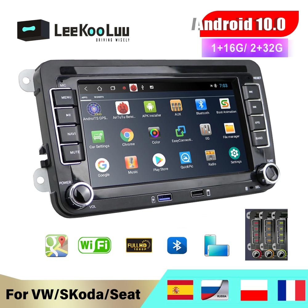 Leekooluu 2 din rádio do carro jogador multimídia gps para volkswagen vw golf passat b6 touran polo sedan tiguan jetta android dvd