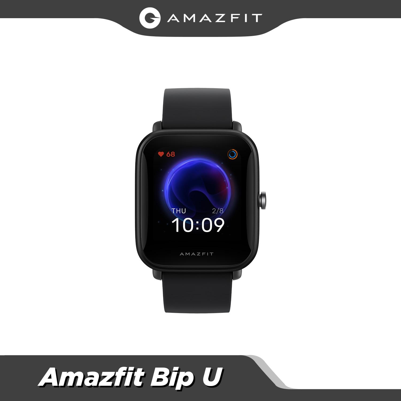 الأصلي Amazfit بيب U اللياقة البدنية المسار Smartwatch 5ATM مقاوم للماء اللون عرض النوم رصد ل أندرويد ل IOS