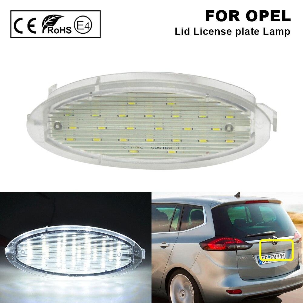 Luz de coche de una pieza, luz trasera de luz LED de matrícula, estilo de coche para Opel Zafira Astra G caravana CC coupé Kasten Stufenheck