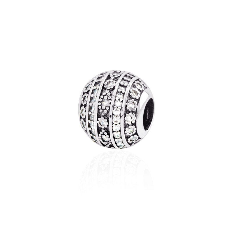Подлинная серебряные бусины 925 пробы, уверенность Подвески подходят оригинальный Pandora Браслеты для женщин DIY ювелирные изделия