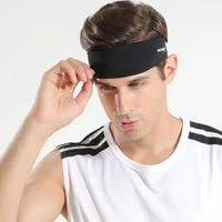 1pc men sports headband women yoga elastic sweatband fitness running breathable safety hair band for men outdoor sport headwrap