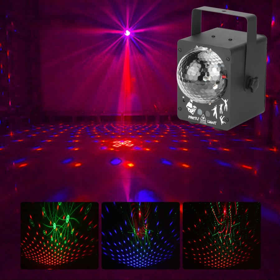 Remote Control Disco LED Stage Light RGB Projector Lights for LED Stage Ligh Party Bar Decor US Plug 100-240V enlarge