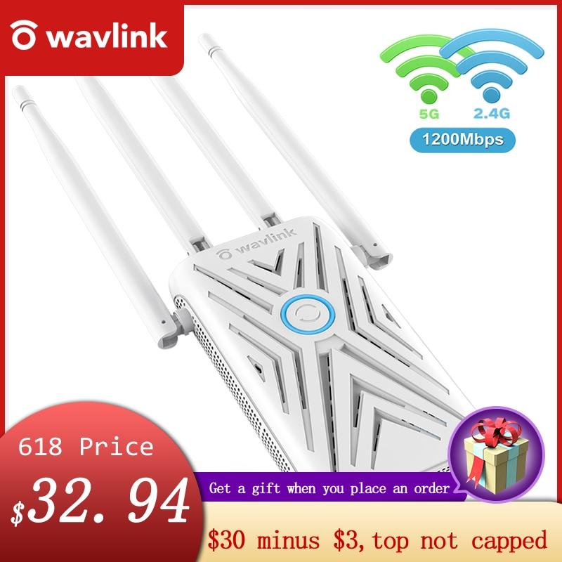Wavlink AC 1200 Dual-Band WiFi repeater 2.4G\5G WiFi Extender 4×5 dbi Antennas WiFi Amplifier Long Range Signal WiFi Booster