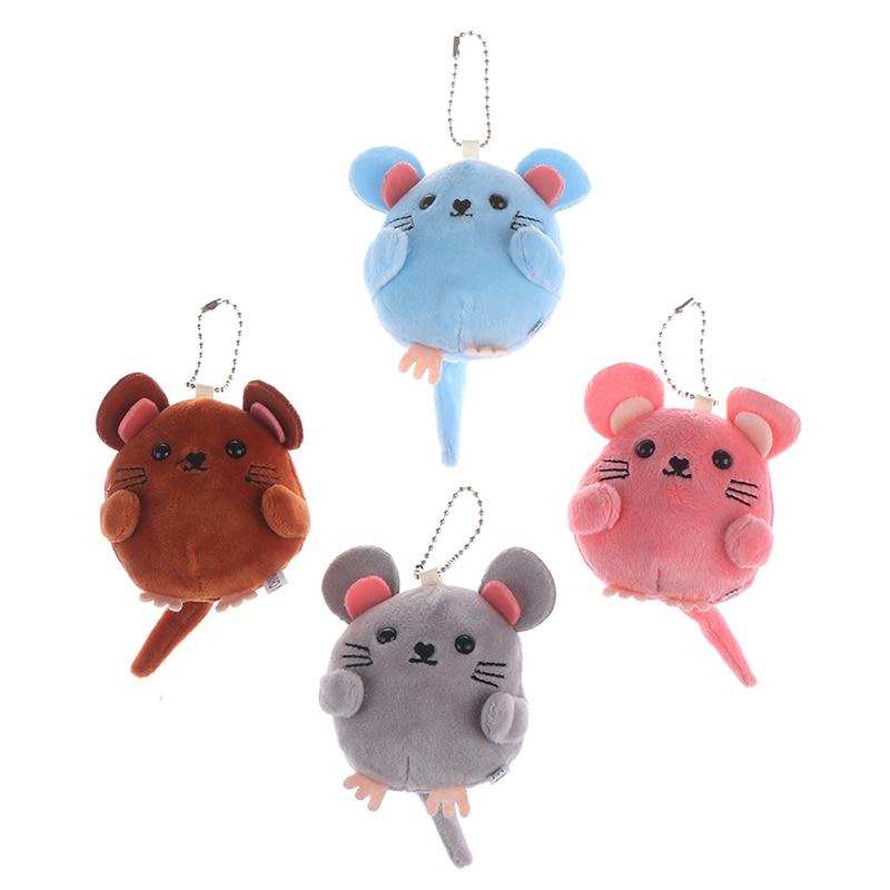 Regalo Año Nuevo rata juguetes suaves cascabel de mano para bebés bolsa Charm peluche mullido ratón cochecito juguete decoración de habitación de niño