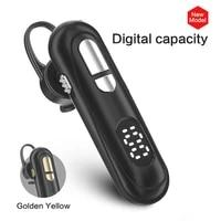 newest bluetooth headset 5 1 earpiece handsfree headphones led display 9d stereo earbud earpiece works on all all smartphones