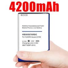 4200mAh HB505076RBC pil için Huawei A199 G700 G710 Y600 C8815 G610 G610T G610S G716 G606