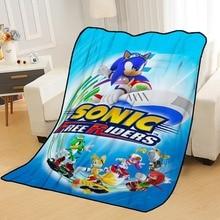 Personnalisé Sonic les couvertures de hérisson pour les lits jeter la couverture couverture douce couverture dété anime couverture couverture de voyage