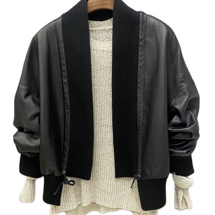 2020 new sheepskin leather coat  women Genuine jackets black jacket blazers