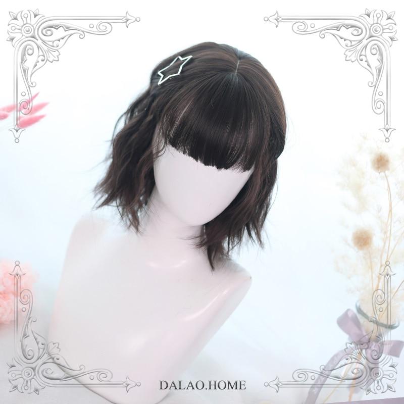 High Quality Soft Girl Lolita Sense Of Layered Design Wig Short HairCostume Party