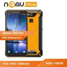 نومو S50 برو صدمات الهاتف الذكي MTK6763 فولت/فولت ثماني النواة 4 جيجابايت 64 جيجابايت أندرويد 8.1 5000mAh OTG + NFC 16MP IP69 مقاوم للماء الهاتف المحمول