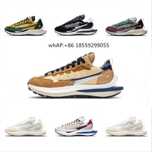 2021 Sacai LDV waffle running shoes for men women black white gray pine green Gusto varsity blue men