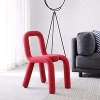 dining chairs poltrona infantil bedroom furniture simple creative shaped child nordic ins original design bend makeup back stool