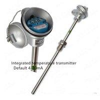 Thermal resistance pt100 integrated temperature transmitter temperature sensor 4-20mA 0-5V 0-10V