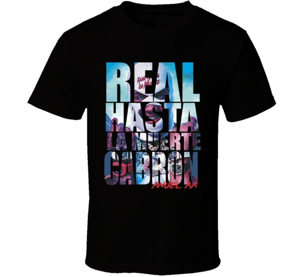 Anuel Aa Real Hasta La Muerte 3,0 Reggaeton Regueton trampa T camisa hombres mujeres Hip-Hop camiseta femenina masculina camisa