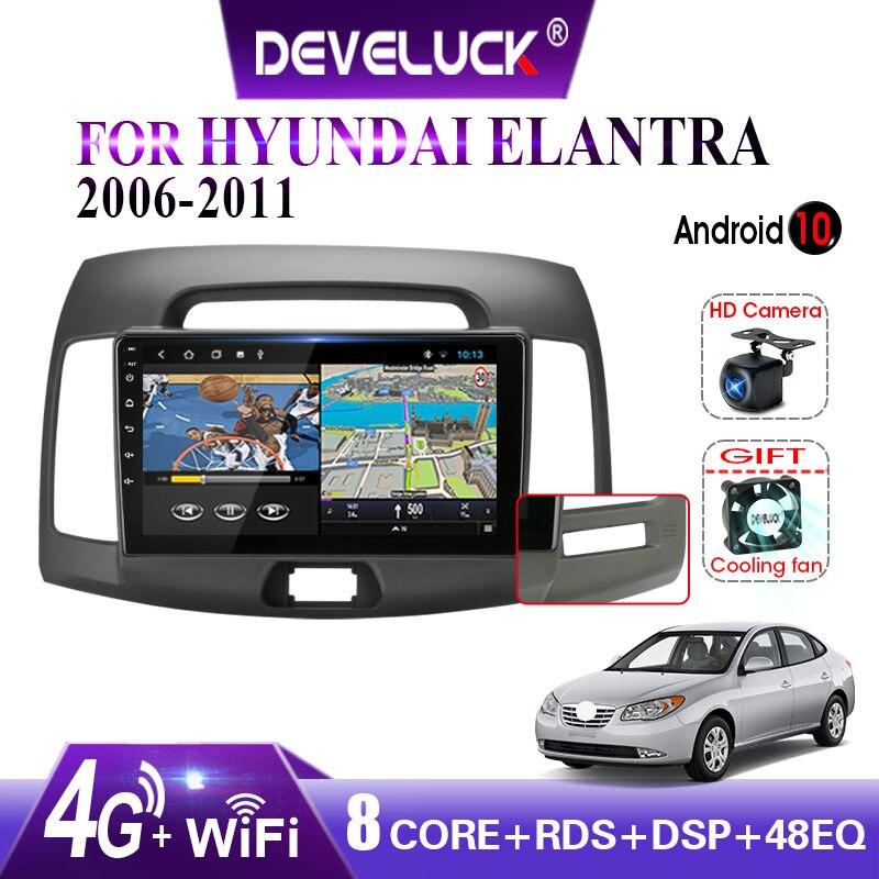 2 din 10,0 Android Auto Radio Multimedia Video Player für Hyundai Elantra 4 HD GPS Navigation AutoStereo Kopf Einheit Mit rahmen