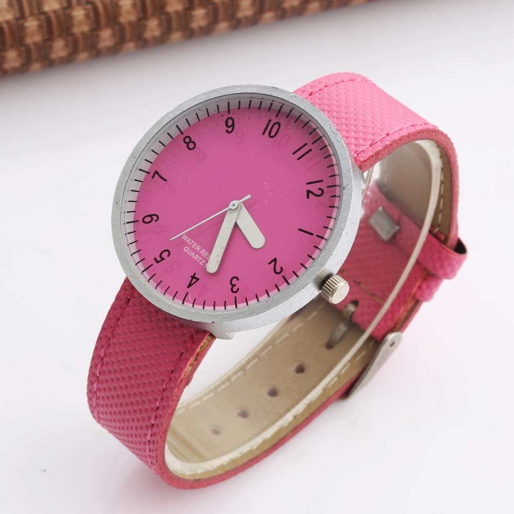 Womage Women Watches Casual Ladies Watches Leather Band Qaurtz Wristwatch Teen Student Watches Gift