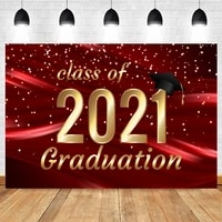 class of 2021 graduation backdrop red golden dots hat glitter vinyl photography background for photo studio photophone photocall