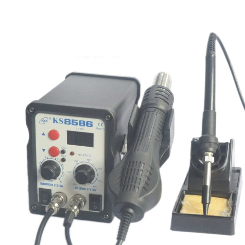 KS-8586 станция для пайки горячим воздухом 2-в-1, станция для распайки горячим воздухом, строительный фен для ремонта горячим воздухом