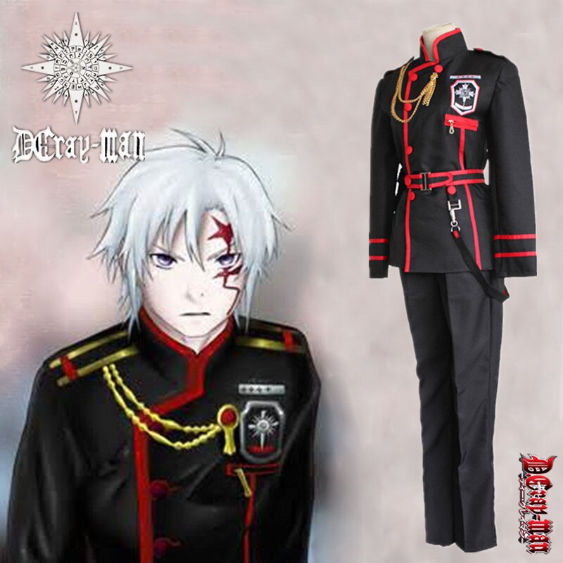 Anime D.Gray-man Cosplay Costumes Linali Lee Allen Walker Top Pants Coat Jacket Skirt School Uniform For Men Boys Girls Full Set