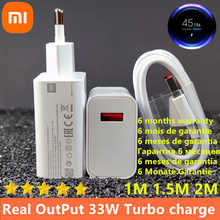 33w charger xiaomi eu Turbo Charge Original type C cable For Xiaomi redmi note 9 pro POCO X3 nfc Mi 10 9 9t pro note 10 10X LITE