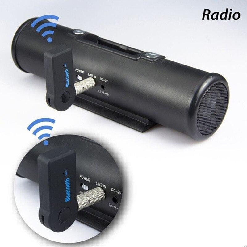 Coche Aux adaptador Bluetooth inalámbrico de 3,5mm receptor de Audio para opel astra h gtc w204 mercedes benz tesla model3 abarth mini cooper