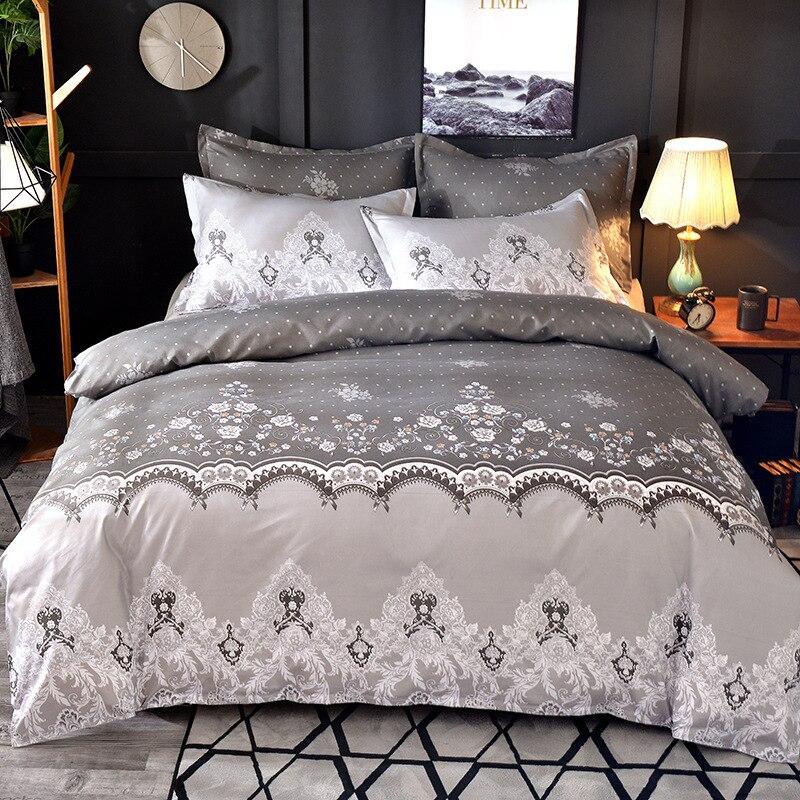 Juego de edredón DREAM KARIN Floral de 3 piezas LaceUltra suave con funda de almohada colección de Hotel juego de edredón