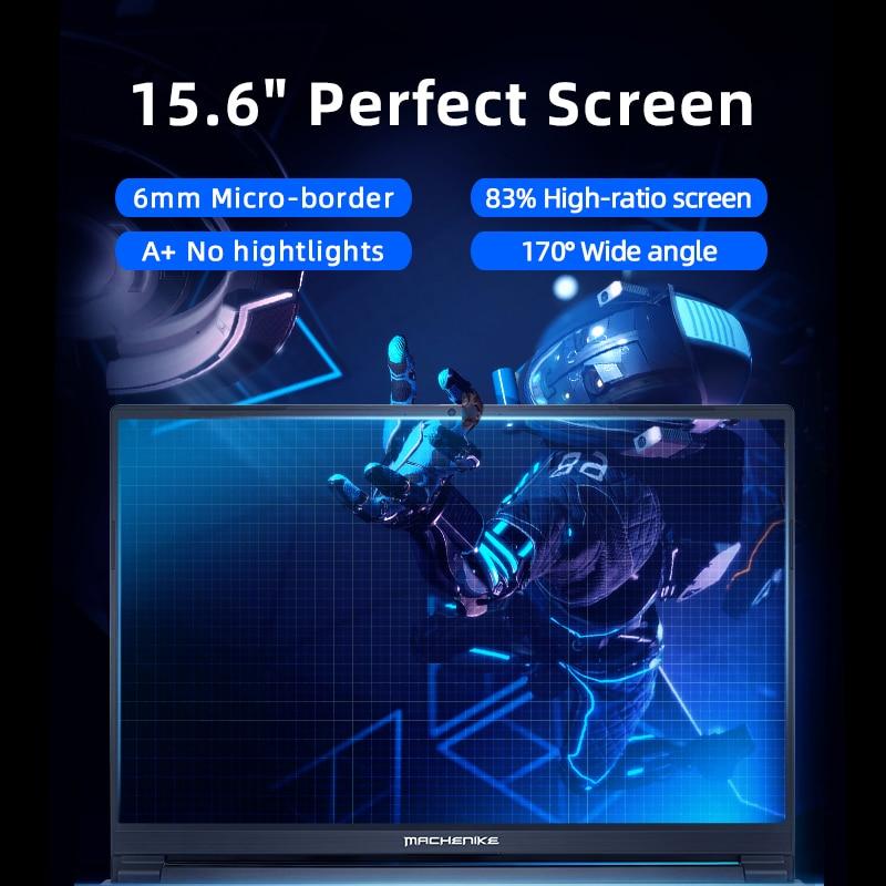 Machenike T58 Gaming Laptop intel i7 10750H 15.6 FHD IPS Laptop GTX1650 Windows 10 Pro Computer Laptops 16G 512G SSD Notebook