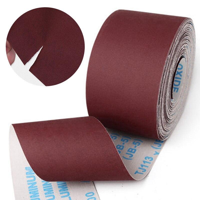 Наждачная бумага 80-600 Грит, 1 м, рулон наждачной ткани для шлифовки металла, обработки дерева, мебели