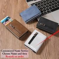 zovyvol 2021 new zipper design automatic bounce bank credit card holder metal box small money wallet travel bag size 9 56 5cm