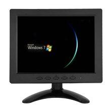 ZHIXIANDA H1208 8 inch TFT LCD 1024x768 Monitor with VGA HDMI AV BNC USB Sperkers for PC CCTV Security Camera