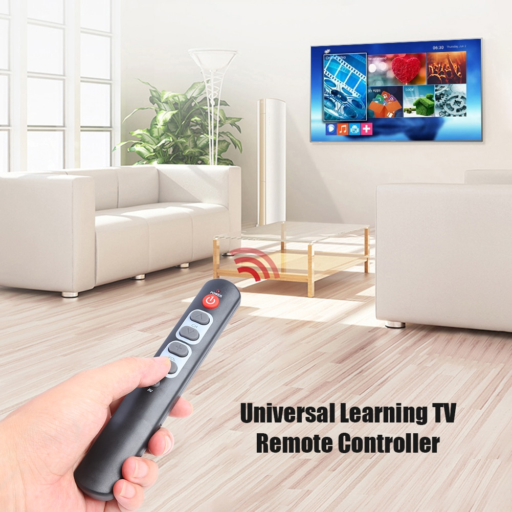 Universal 6 Key Learning Remote Control Copy Electronic Smart Home Accessories from Infrared Remote for TV Box STB