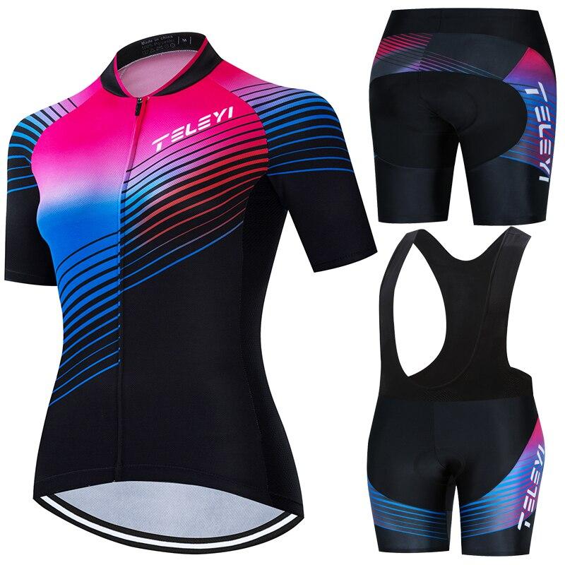 TELEYI-Maillot de ciclismo transpirable para mujer, ropa de verano para ciclismo de...