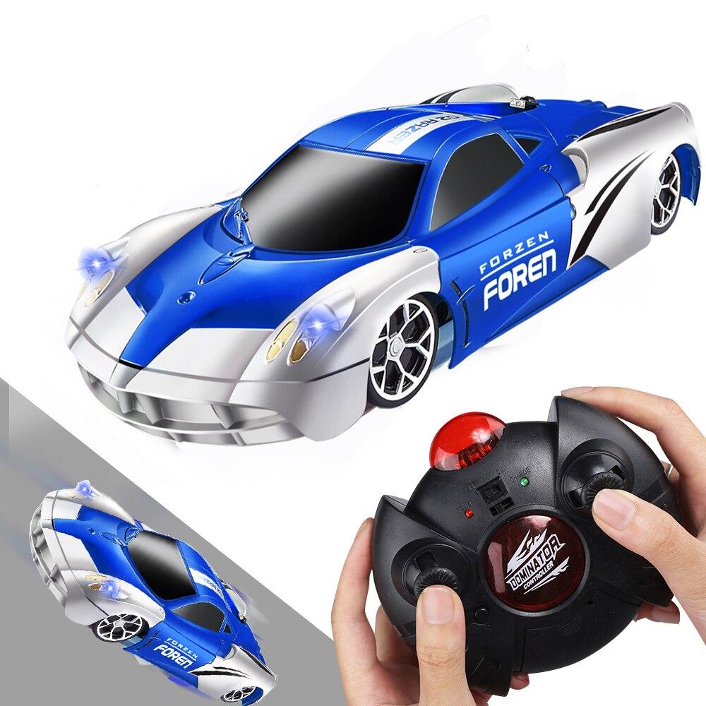 Coche de juguete a Control remoto, coche de carreras RC, juguetes para escalar, techo, acrobacias giratorias, modelo de regalo de Navidad para niños