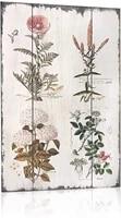 florals botanical wood plaques primitive country farmhouse tin sign decor retro 8x12inch