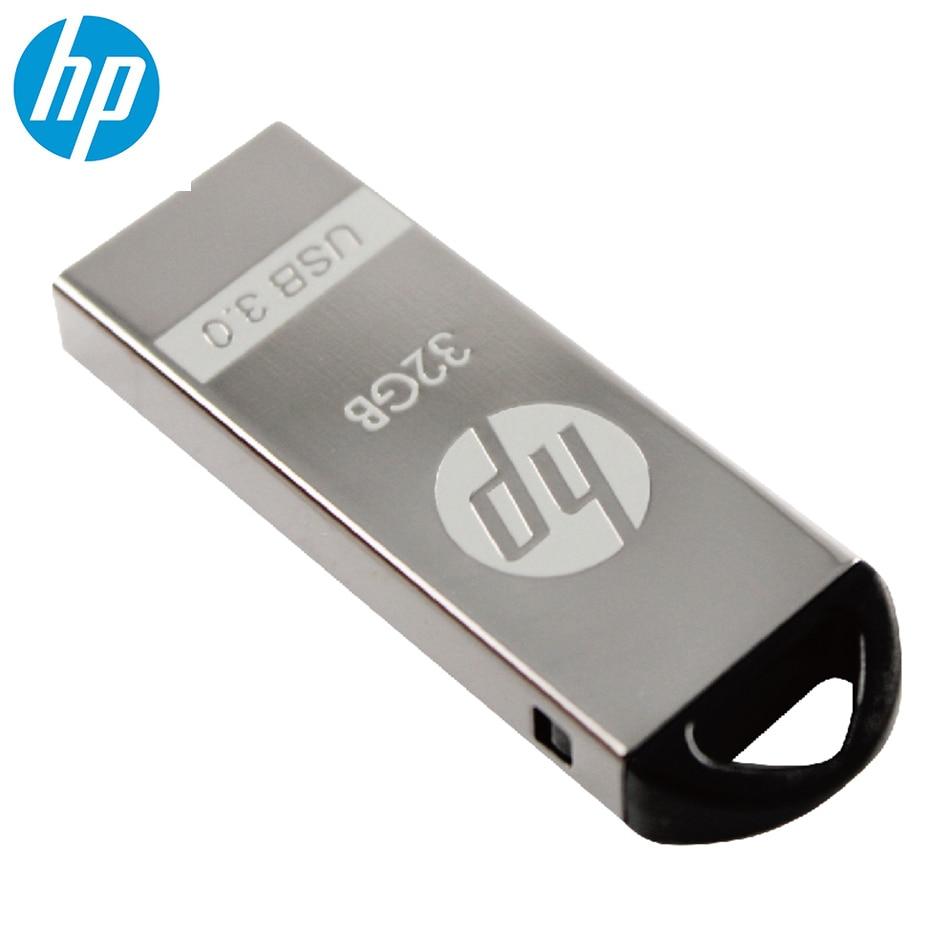 Original hp v220w metal à prova de choque dustproof usb flash drive 64 gb 32 gb 16 gb pulseira vara para o carro media player tablet pc