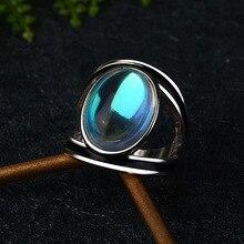 Vintage Maansteen Ring Overdreven Ring Voor Vrouwen Zilver Kleur Sieraden 2020 Nieuwe Maat 6 7 8 9 10