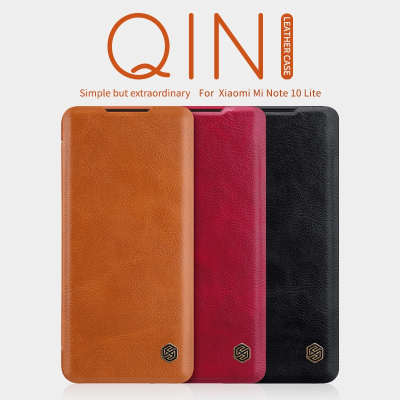 Funda case For xiaomi redmi Note 10 lite Nillkin Qin PU Flip leather wallet case back cover for redmi note 10 Lite nillkin case