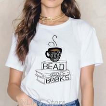 Drink good coffee read good books camisetas gráficas divertidas mujeres roupas tumblr verano top mujer camiseta vintage camiseta ropa
