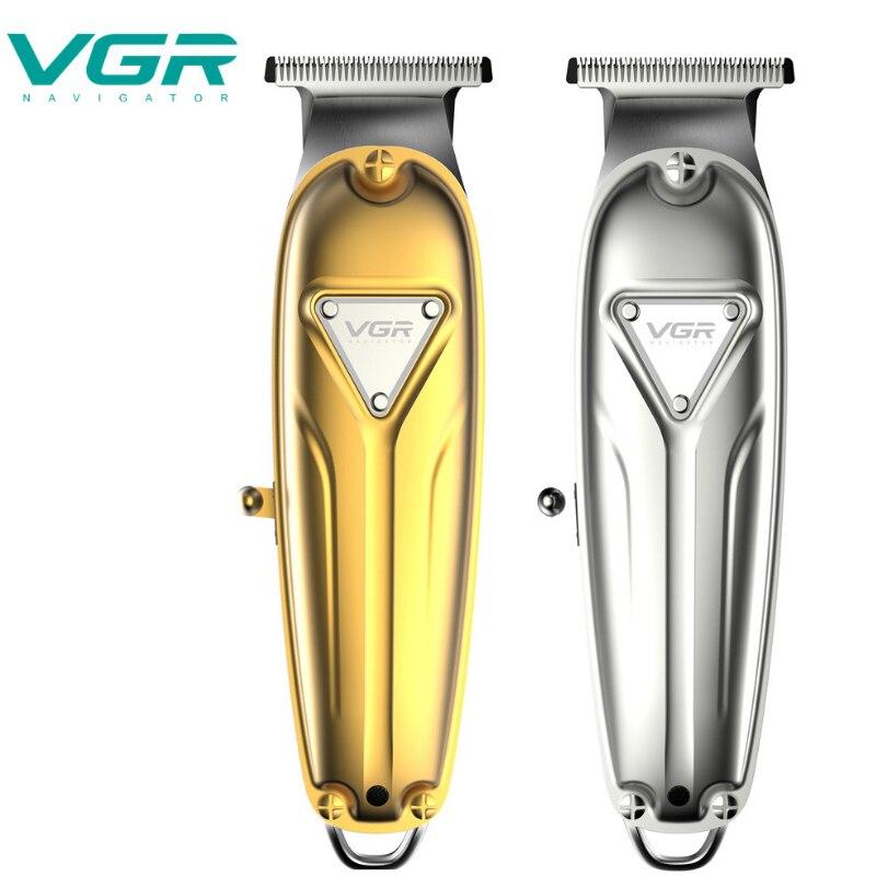 VGR AliExpress eléctrica familia nueva cortadora de pelo full metal recargable recorte tallado fadertondeuse cheveux maquinilla para peluquero