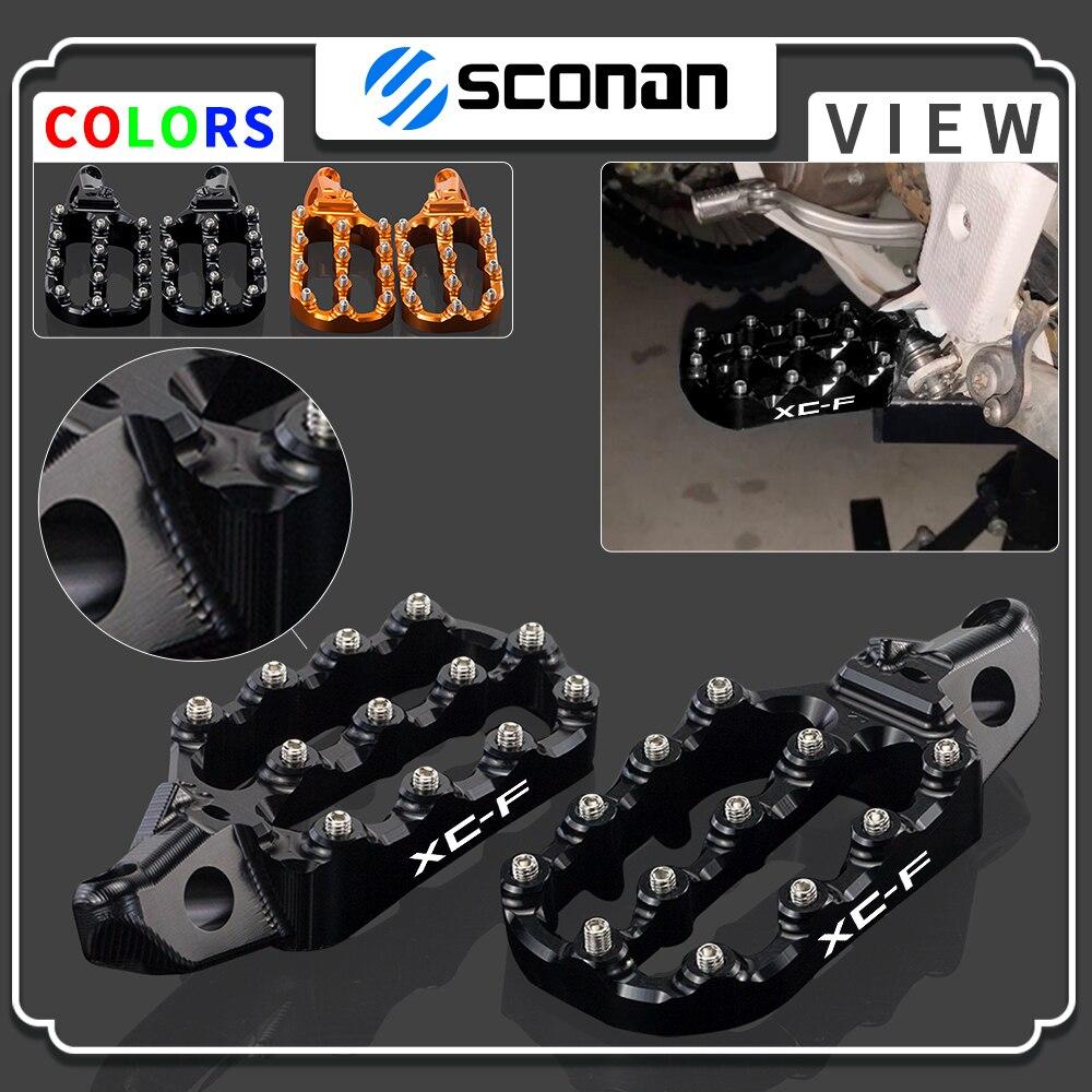 ل KTM 85 125 250 300 350 450 500 530 XC XCF SX SXF EXC EXCF XCW XC-F SX-F EXC-F XC-W القدم تقع مسند footpegs أوتاد الدواسات