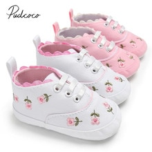 0-18M Toddler Summer Princess First Walkers Kid Causal Shoes Baby Shoes Baby Girl Embroidery Flower