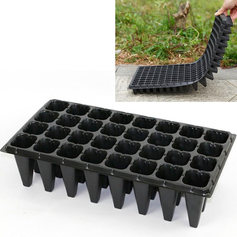 1/3/5 unids/set 32 agujeros bandejas de inicio de plántulas de plástico macetas para flores y plantas vivero Caja de cultivo bandeja tapón plantador contenedor