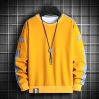 long sleeve harajuku sweatshirts men 2021 new fashion 6 color hoodie mens casual o neck sweatshirt for young men streetwear tops