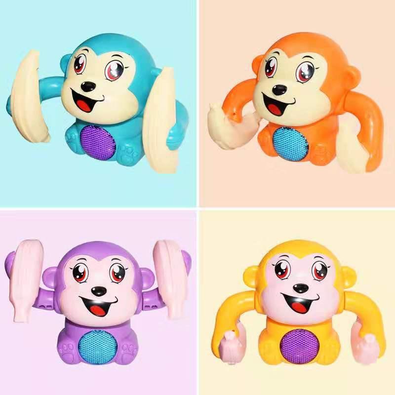 Освещение, музыка, Детская модель животных, игрушка, голосовое управление, мультфильм, банан обезьяна игрушки для детей игрушки
